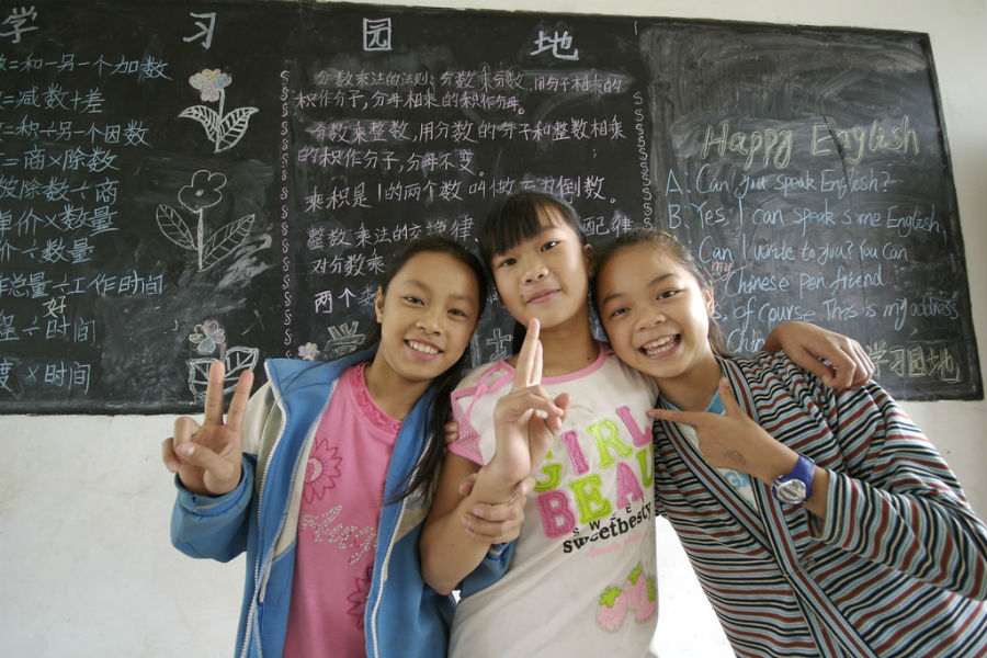 Happy English: Many Chinese schools and students are crying out for native English speakers to teach them. Source: Brian Yap - Flickr.com