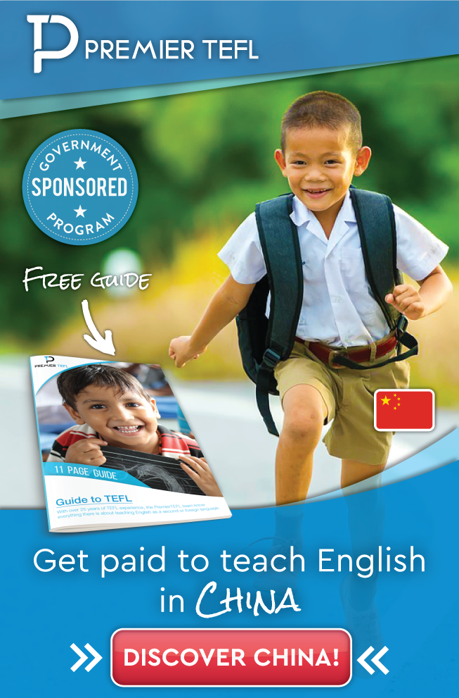 Get paid to Teach English in China