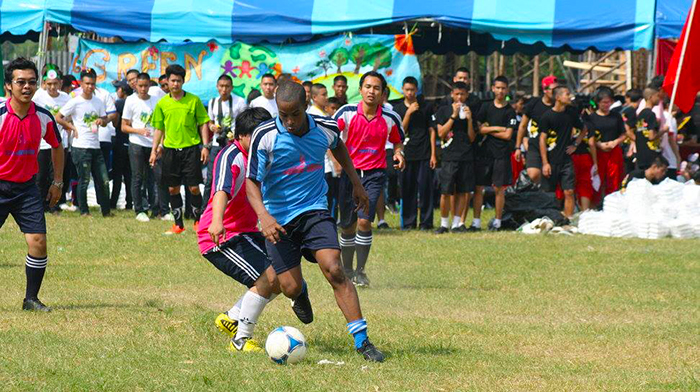 Michael Playing Football - Mike's story: How I got a TEFL job in Thailand... 5 years later I'm still here