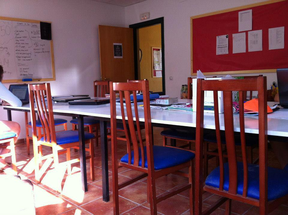 Classroom in Spain.