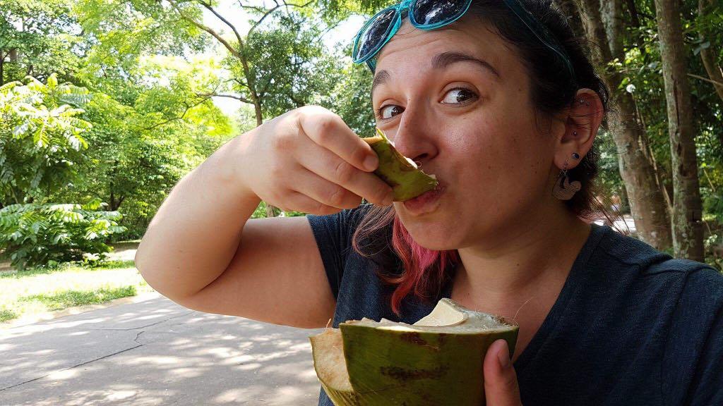 Kari eating some fruit
