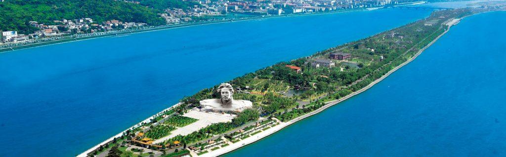 A statue in China