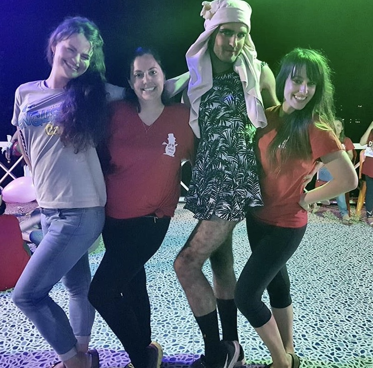 James in drag - Hats off to Hattie   Our Thailand TEFL Star