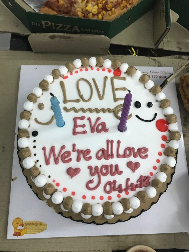 Eva's goodbye cake