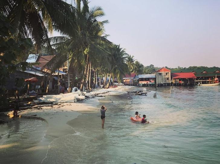 A beach in Cambodia