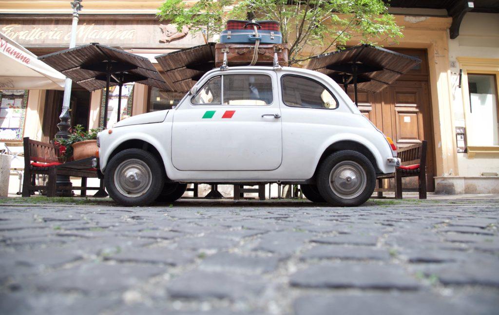 Italian car parked