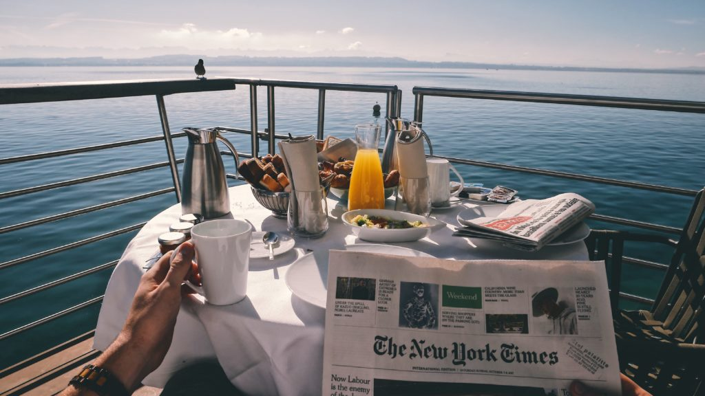 breakfast on a lake