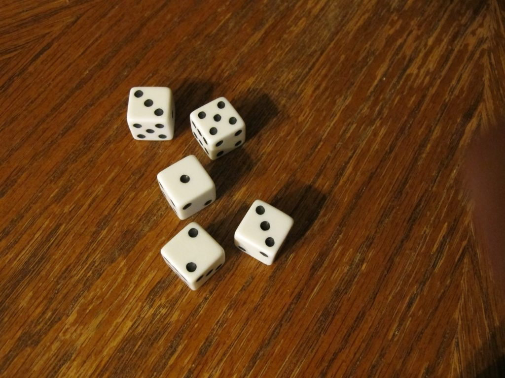 A group of dice on a table