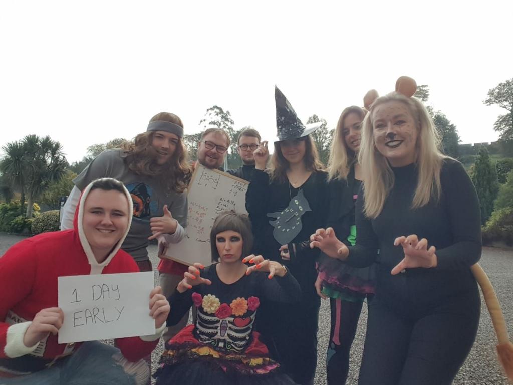 Premier TEFL team dressing up for Halloween.