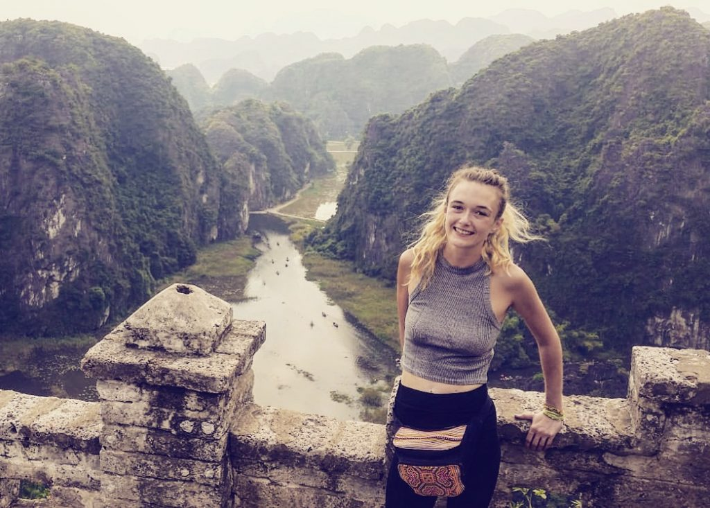 Jodie in Vietnam.