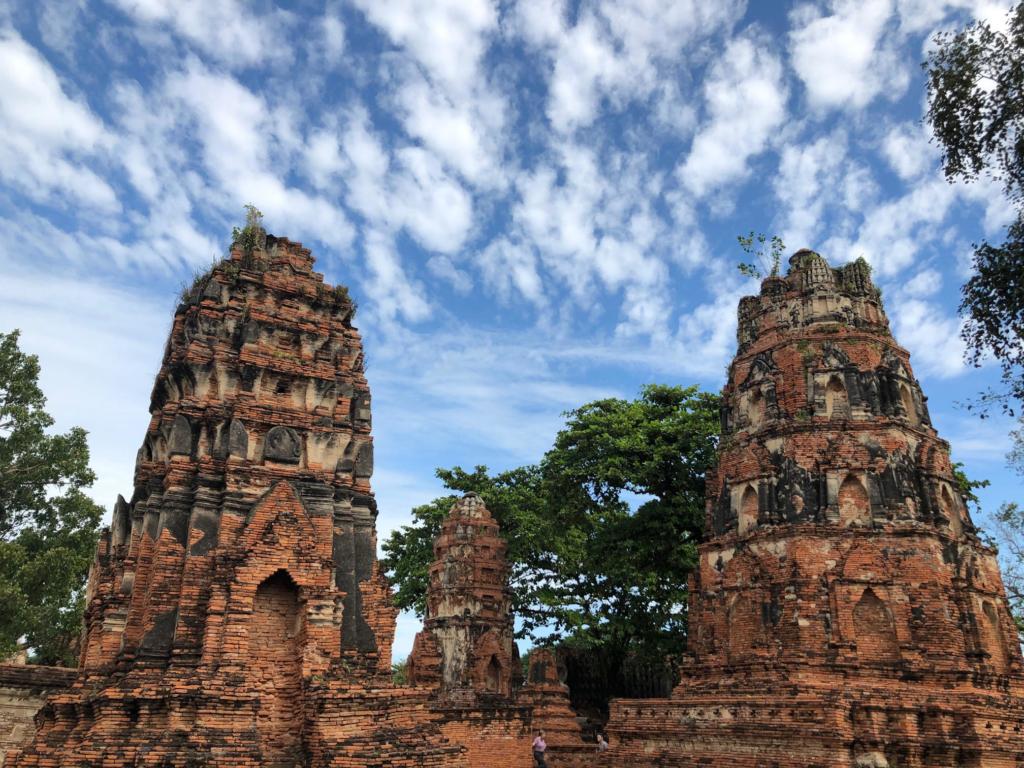Ancient Thai temples.