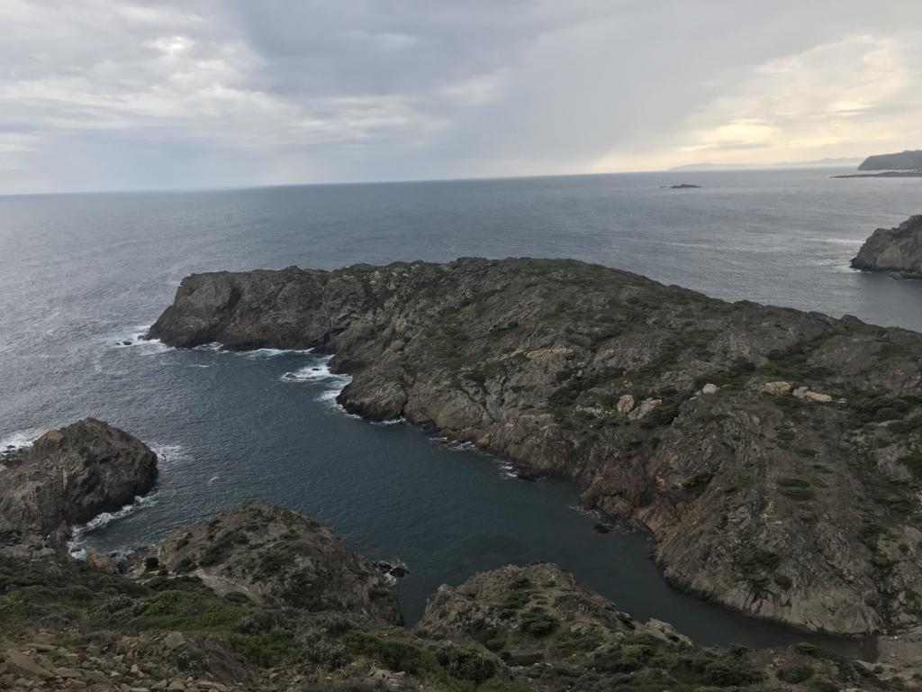 A rocky shoreline in Spain.