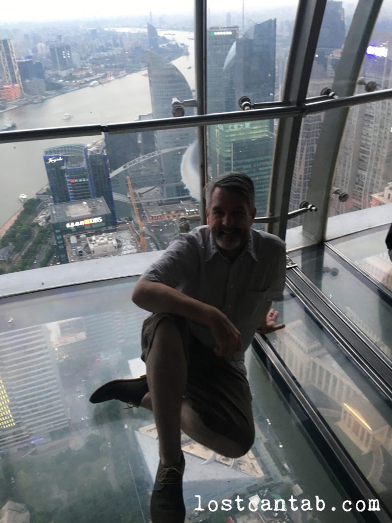 Seth in a Shanghai skyscraper.