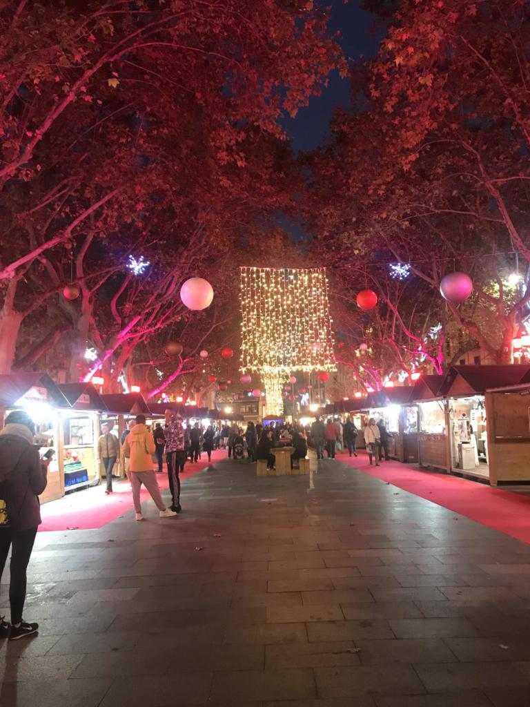 Fiesta taking place at night.