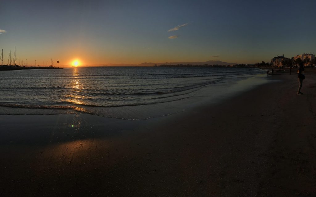 Sun rising in Spain