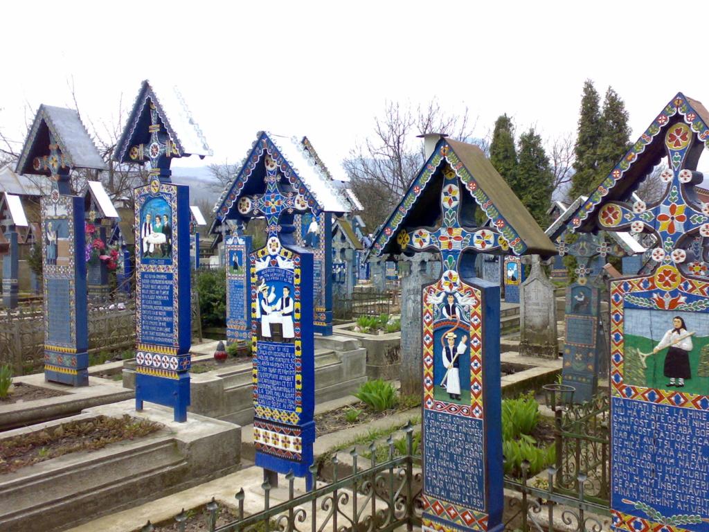 Very unique and artistic gravestones.