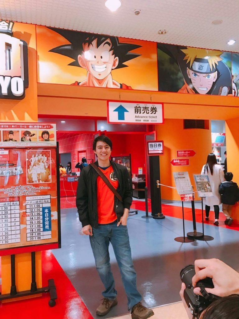 Erick visiting a Japanese comic book store.