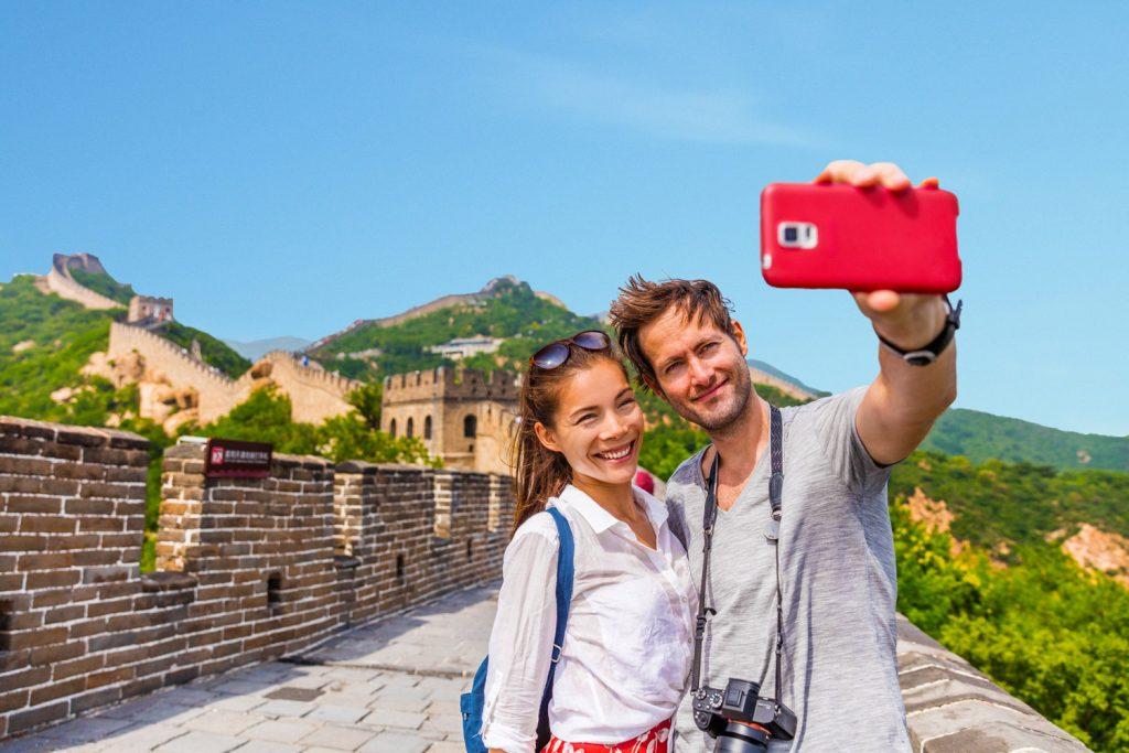 Couple on the Great China Wall