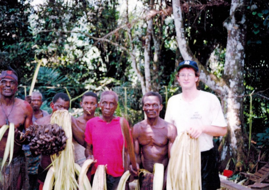 Peter with some locals