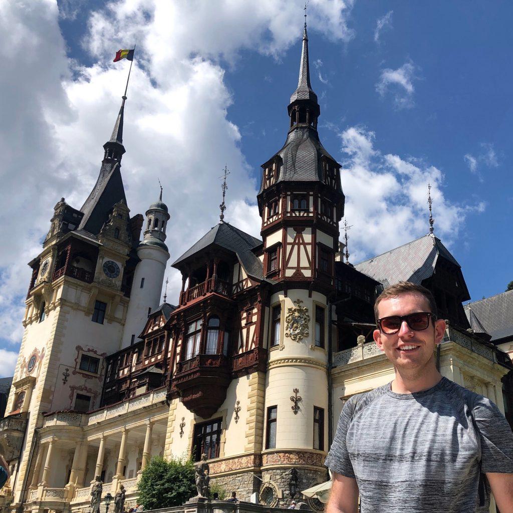Stuart with a castle in Romania