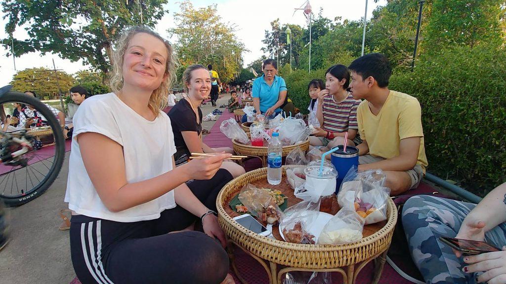 Eating traditional food 1024x576 - TEFL in Asia - Meet Emma Hughes