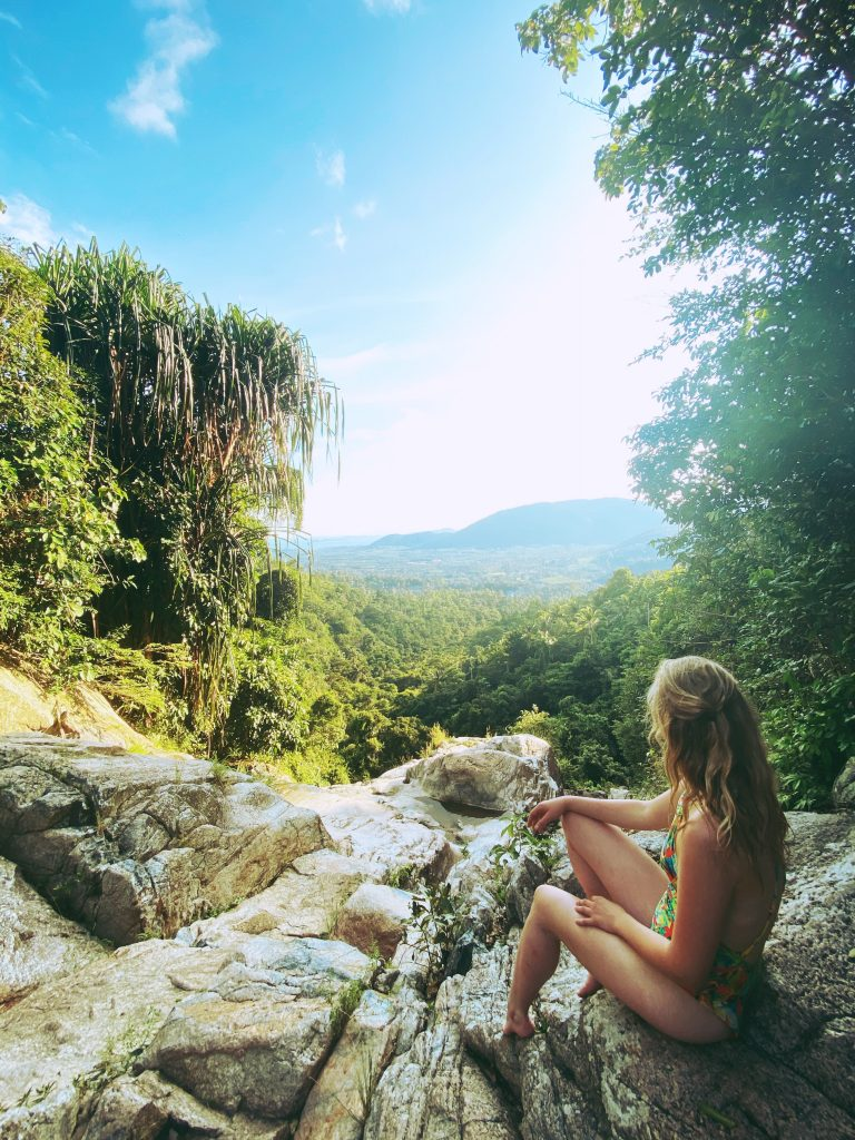 Emma looking out over a view 768x1024 - TEFL in Asia - Meet Emma Hughes