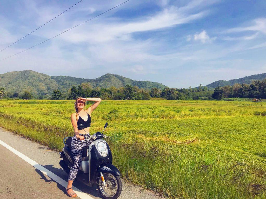 Emma on a bike