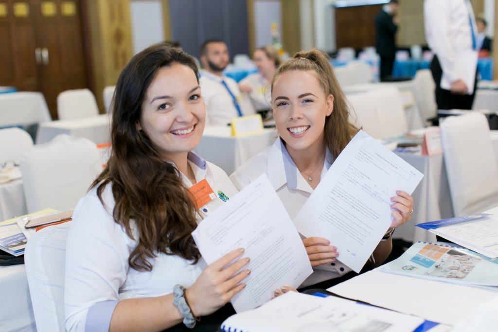 Katie at TEFL orientation while teaching English in Thailand