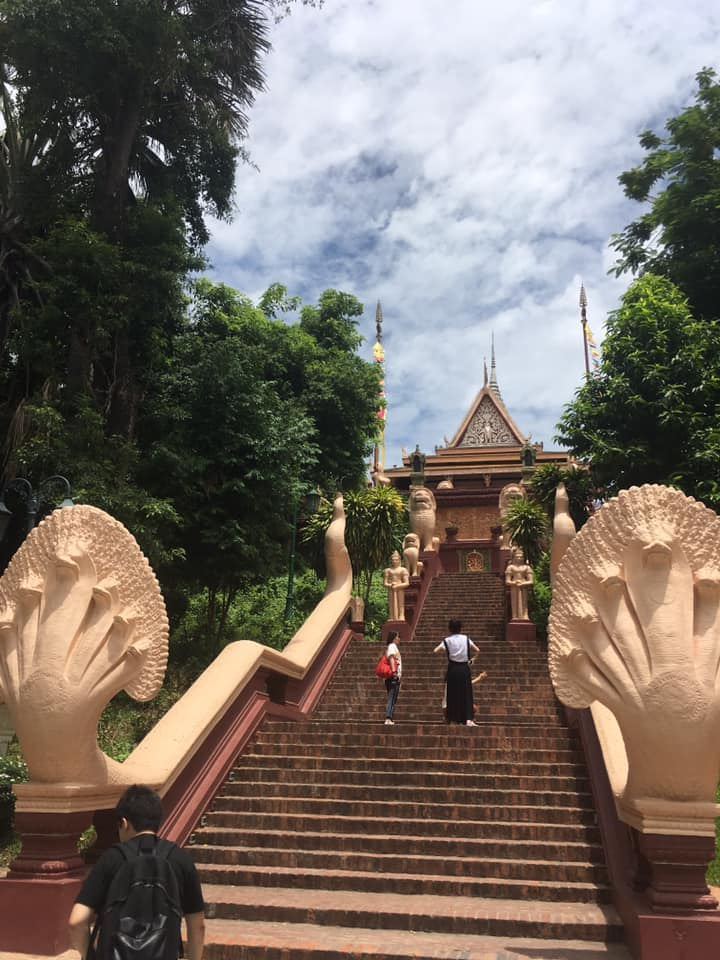 Steps at a temple in Cambodia