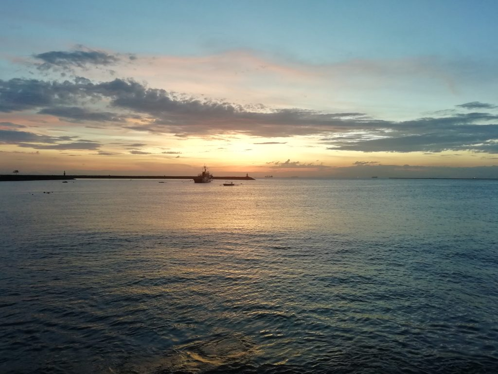 Sunset over the sea in Philippines