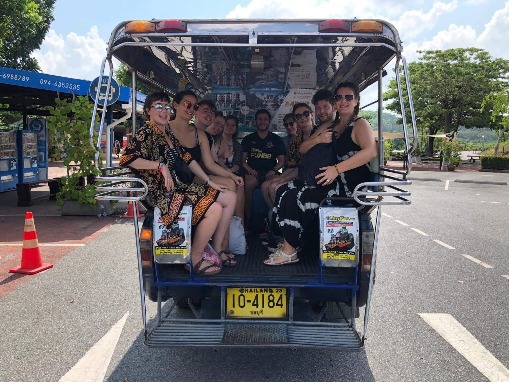 TEFL Teachers in the back of a van 1024x768 - Teaching English in Thailand - Meet Katie from Ireland