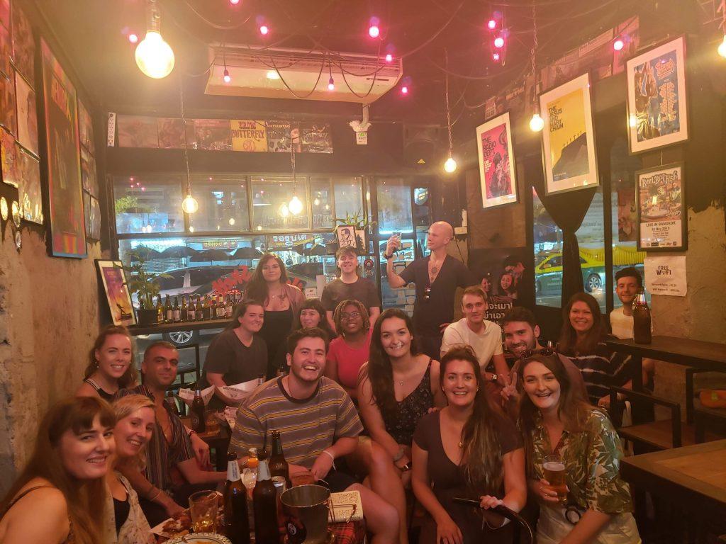 TEFL teachers in a bar in Thailand