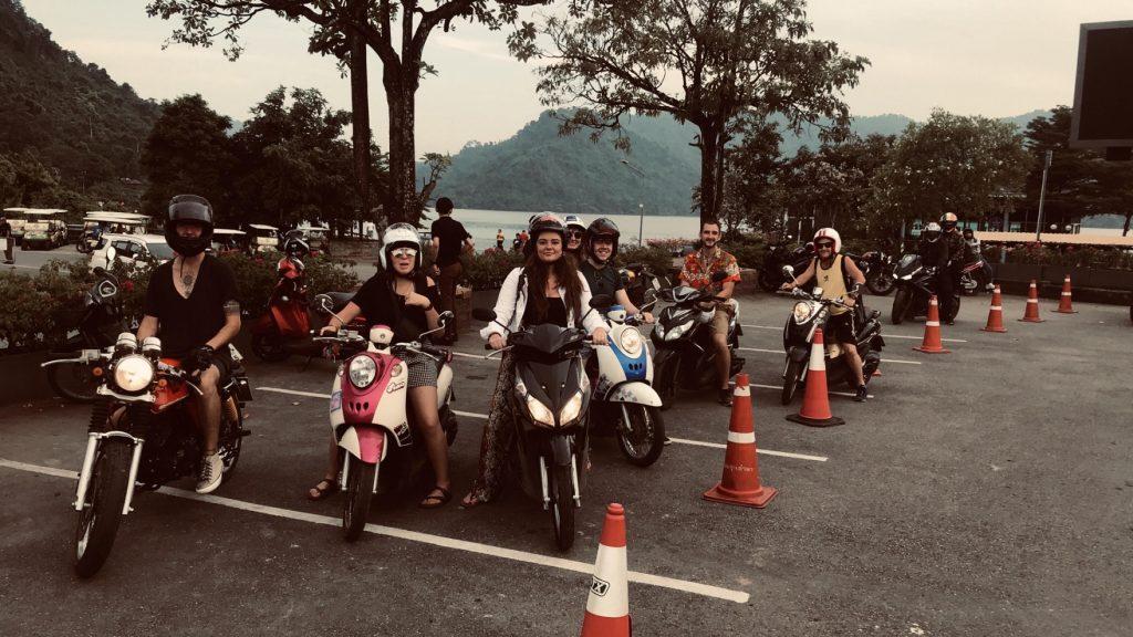 TEFL teachers on bikes in Thailand