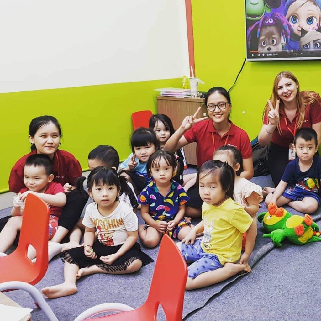Martha with TEFL students