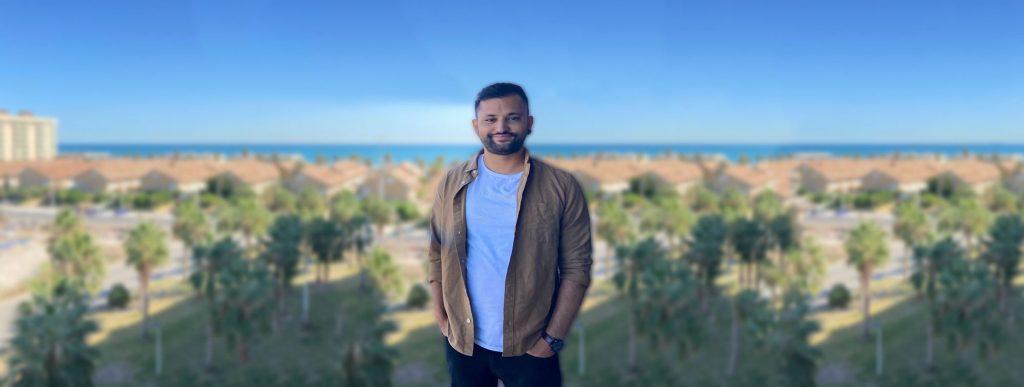 Ishaq set up his own online English teaching company
