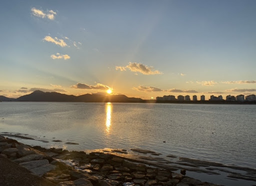 Beautiful Sunset in Asia