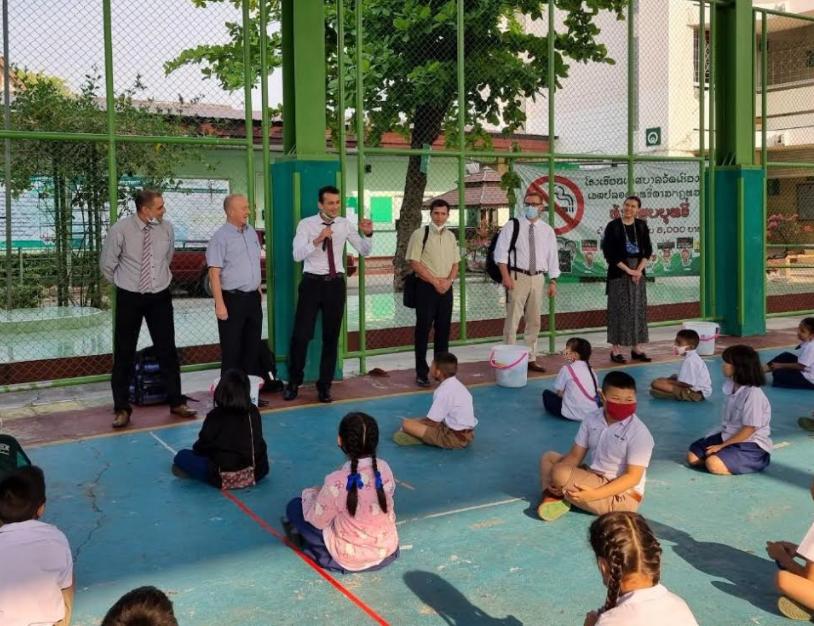 Teaching children in Thailand