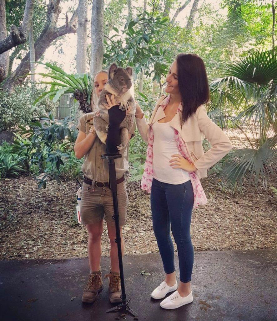 Woman with Koala Bear